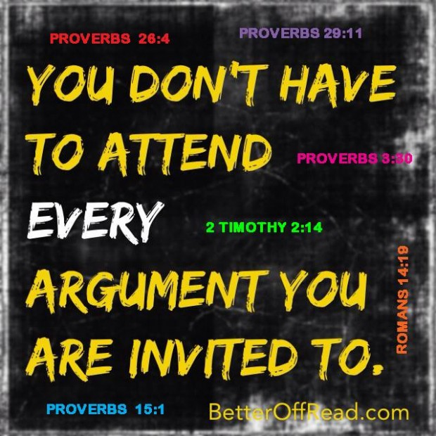 Arguing-a Bible Study in one picture!