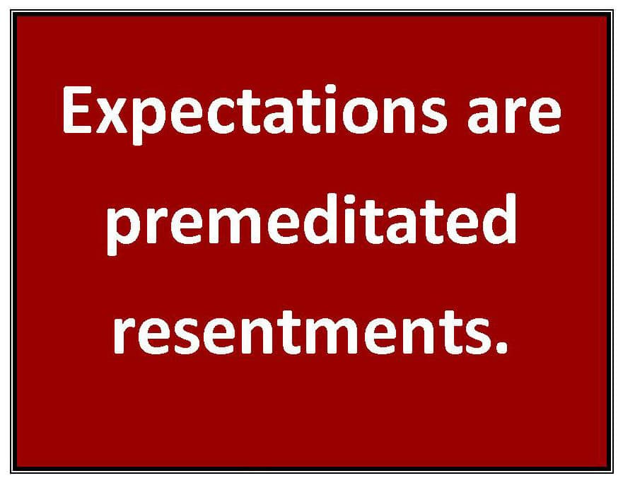 Expectations resentment
